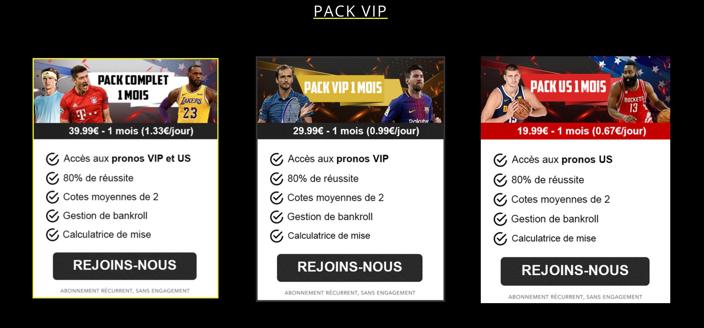 Abonnements VIP golden bet